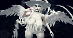 Hemomancer (†SY ☢ELIZABETH) Tags: angel witch creepy sl fantasy secondlife horror bloody winged angelic witchy succubus aii fantasysl darksl egosumaii