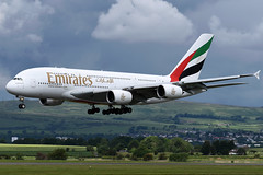 A6-EEE Emirates Airbus A380-861 at Glasgow International Airport on 9 June 2019 (Zone 49 Photography) Tags: aircraft airliner aeroplane june 2019 glasgow scotland egpf gla abbotsinch airport ek uae emirates airbus a380 380 388 800 861 a6eee