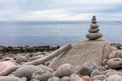Cairn (Otter Cliffs Beach) (The Flying Inn) Tags: acadianationalpark atlantic maine mtdesertisland ocean ottercliffs parklooproad cairn landscape outdoors rocks stones