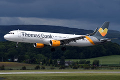 G-TCDJ Thomas Cook Airlines Airbus A321-211 at Glasgow International Airport on 9 June 2019 (Zone 49 Photography) Tags: aircraft airliner aeroplane june 2019 glasgow scotland egpf gla abbotsinch airport mt tcx thomas cook airlines airbus a321 321 200211 gtcdj