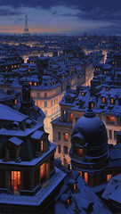 Over-The-Roofs-Of-Paris-by-Evgeny-Lushpin (spycat29@yahoo.com) Tags: lushpin