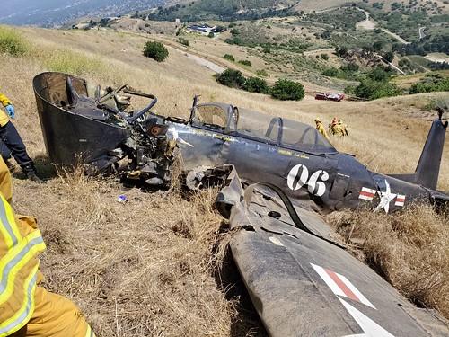LAFD Responds to Fatal Plane Crash in Santa Susana Mountains