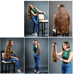 rryt (Haarfert) Tags: longhair longhaircut haircut cuthair chop chopped longtoshort rapunzel brunette blonde ponytail braid makeover hairstyle model shave headshave bald comb