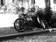 P1000217BW (waldy5897) Tags: bicicleta bw lumix monochrome olympus bicycle oldsanjuan gx9 monotone viejosanjuan puertorico