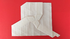Tom Crain's Rhombus Nugget (georigami) Tags: origami papiroflexia papel paper