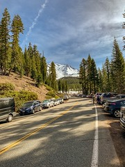 Overflow Parking at Mount Shasta's Bunny Flat Trailhead (lhboudreau) Tags: