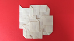 Tom Crain's Square Tessellation (georigami) Tags: origami papiroflexia papel paper