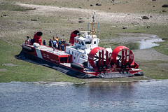 Coastguard hovercraft on Deadman's Island (Ross G. Strachan Photography) Tags: britishcolumbia canada coastguard deadmansisland forces vancouver helicopter hovercraft