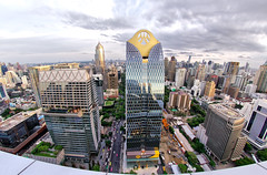 View from the Penthouse lounge at the Park Hyatt Hotel Central Embassy (Asiacamera) Tags: asiacamera bangkok thailand