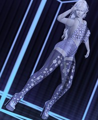 disco fever (Teuila Porcelain (Ladainia inworld)) Tags: purepoison pure porcelain poison disco blue fever holes sandals high boots donna sponsered groovy party blueberry catwa maitreya doux dazed