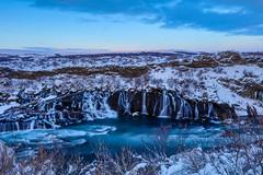 Hraunfossar (Lava Falls), Iceland (Peta Jade) Tags: hraunfossar addictedtotravelnow holiday holidaywithgorgeousboyfriend ice iceland lavafalls photography snow travel traveldestination tripofalifetime winter winterholiday