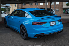 Amazing (Hunter J. G. Frim Photography) Tags: supercar colorado audi blue v8 turbo awd german sedan riviera rivierablue rs5 audirs5