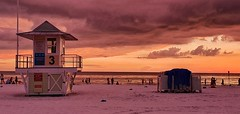 Sunset at Clearwater Beach (Anne Oldfield) Tags: sunset clearwater florida beach lifeguardstation