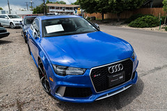 Rare Color (Hunter J. G. Frim Photography) Tags: supercar colorado audi blue v8 turbo awd german sedan rs7 audirs7
