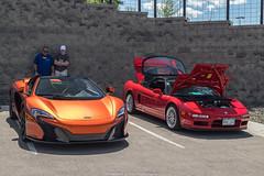 Very Different Cars (Hunter J. G. Frim Photography) Tags: supercar colorado mclaren 650s spider volcano orange v8 turbo british acura nsx honda red v6 mclaren650sspider acuransx