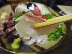 Sashimi @Hokuhan Restaurant, Tokyo (Phreddie) Tags: japanese food northern tohoku japanesefood salty sake ricewine local seafood delicious happy dinner ueno restaurant tokyo japan