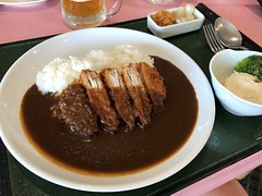 Katsu-Curry lunch (Phreddie) Tags: tonkatsu pork cutlet curry rice japanesefood lunch eat food golf chiba japan