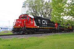Old Freinds (view2share) Tags: cn5449 cn canadiannational 516 l516 cn516 cnl516 minneapolissub stcroixcounty newrichmond wisconsin wi emd electromotivedivision engine evening eastbound sd60 locomotive local freight freighttrain freightcar freightcars spring springtime railway railroading rr railroads rail railroad rails railroaders rring rural track train trains transportation tracks transport trackage trees deansauvola may 2019 may2019 may202019
