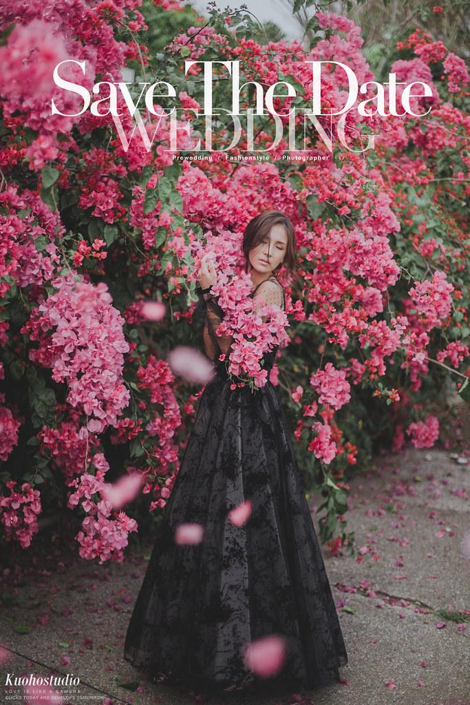 台中婚紗工作室,台中自助婚紗,台北自助婚紗,婚紗攝影,雜誌風婚紗,花叢婚紗,黑色禮服,台灣婚紗攝影,台中婚攝,台北婚攝,郭賀影像,全球旅拍,VVK WEDDING
