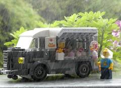 Citroën HY Ice Truck (captain_j03) Tags: toy spielzeug 365toyproject lego minifigure minifig moc car auto 7wide citroen hy regen rain