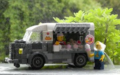 Another satisfied customer (captain_joe) Tags: toy spielzeug 365toyproject lego minifigure minifig moc car auto 7wide 6wide citroën citroënhy rain regen eiswagen eis