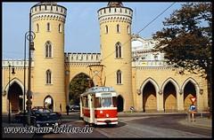 109-1991-10-06-34-Nauener Tor (steffenhege) Tags: potsdam vip tram tramway strasenbahn streetcar sonderfahrt historischerzug gothawagen gothazug t62 109