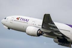 HS-TJU B772 THAI YBBN (Sierra Delta Aviation) Tags: thai airways boeing b772 brisbane airport ybbn hstju