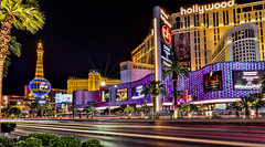 Vegas strip (Mark Chandler Photography) Tags: bellagio lasvegas nv nevada night boulevard color colour fountain fountains hotel longexposure neon nightlights photo photograhy show silhouette stock street strip planethollywood lights