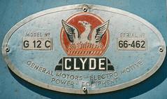 Clyde builders plate on a QR 1502 class (andrewsurgenor) Tags: clyde emd diesel locomotive queenslandrailways qr railroad railway rail railfan railways