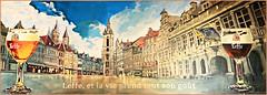 Grand-Place de Tournai, Province du Hainaut, Belgium (claude lina) Tags: claudelina belgium belgique belgië tournai hainaut ville town architecture provinceduhainaut affiche leffe bière beer grandplacedetournai