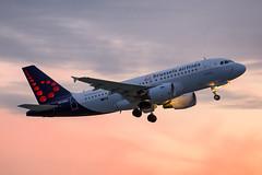 OO-SSA (fakocka84) Tags: lisztferencairport lhbp sunset oossa brusselsairlines airbusa319111