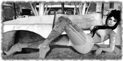 Tranquillity (Ell2kool Resident) Tags: sl avatars avatar blackwhite secondlife firestorm fantasy meshavatars portrait portraits selfportraits selfie summer