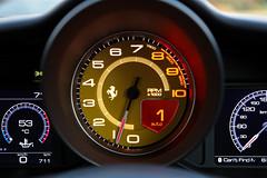 Ferrari 488 GTB Rev Counter and Instrumentation (picturesofthingsilike) Tags: ferrari 488 gtb red turbo italy italian supercar v8