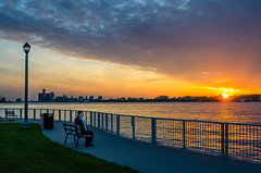 Soaking in the Moment (Neil Cornwall) Tags: 2019 canada detroitriver june ontario reaumepark windsor riverfront sunset