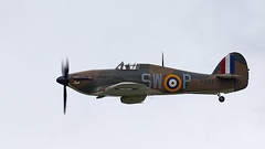 Hurricane (Bernie Condon) Tags: dunsfold wingswheels airshow surrey uk aviation aircraft flying display hawker hurricane warplane fighter raf royalairforce fightercommand ww2 battleofbritian military preserved vintage