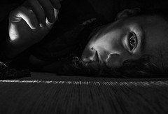 Very close to something (R J Poole - The Anima Series) Tags: poole rjpoole animaseries portrait sony wideangle primelens fullframe carlzeiss 35mm fineart photographicart australianart artistic emotive beautiful haunting stunning unusual strange dark symbolic mystic gothic mysterious soulful surreal surrealism psychological esoteric bw blackwhite monochrome monochromatic studio lighting conceptual inspired original naomigrant