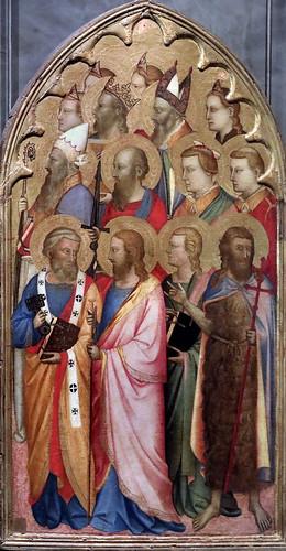 IMG_4101E Puccio di Simone actif à Florence de 1345 à 1362 Théorie de Saints  Theory of Saints Galleria Nazionale di Parma
