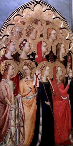 IMG_4101D Puccio di Simone actif à Florence de 1345 à 1362 Théorie de Saints  Theory of Saints Galleria Nazionale di Parma
