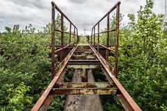 Die Brücke (Dingens-Kirchen) Tags: duisburg landschaftspark lapadu erzbunker rost brücke nrw ruhrpott wolken grün