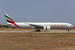 Emirates Boeing 777-31HER 'A6-EGV' LMML - 11.06.2019 (Chris_Camille) Tags: spottinglog registration planespotting spotting maltairport airplane aircraft plane sky fly takeoff airport lmml mla aviationgeek avgeek aviation canon5d canon livery myphoto myphotography
