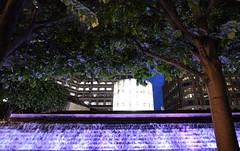 Canary Wharf - London (Mark Wordy) Tags: canarywharf london isleofdogs fountains water night cascade cabotsquare