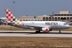 Volotea Airlines Airbus A319-112 'EC-MTF' LMML - 11.06.2019 (Chris_Camille) Tags: spottinglog registration planespotting spotting maltairport airplane aircraft plane sky fly takeoff airport lmml mla aviationgeek avgeek aviation canon5d canon livery myphoto myphotography