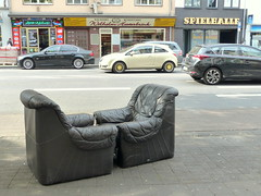 Comfort zone. (remember moments) Tags: dietmarvollmer komfortzone sessel strase street empty seats seat comfortzone armchair car pair couple 2 two