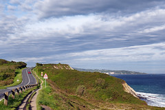 Urrugne coastal path (hbensliman.free.fr) Tags: travel landscape france basque europe coast road asphalt hiking trail ocean ngc