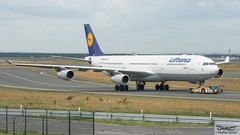 Lufthansa Airbus A340-313E D-AIFC Gander/Halifax (893276) (Thomas Becker) Tags: lufthansa dlh airbus a340313e a340313x a340300 a340 a343 daifc ganderhalifax staralliance msn379 151200 fwwjj 260101 goldhofer ast2 towbarless tow tug pushback fraport flughafen airport aeroport aeropuerto aeroporto fra eddf frankfurt plane spotting aircraft airplane avion aeroplano aereo 飞机 vliegtuig aviao аэроплан samolot flugzeug germany deutschland hessen rheinmain nikon d800 nikkor 70200 vrii fx raw gps aviationphoto cthomasbecker 170728 taxiing geotagged geo:lat=50039523 geo:lon=8596970 aerotagged aero:airline=dlh aero:man=airbus aero:model=a340 aero:series=300 aero:special=e aero:tail=daifc aero:airport=eddf