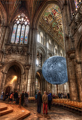 _DSC6011_Enhancer b (busb) Tags: busb ely cambridgeshire england uk church cathedral elycathedral globe model moon hdrfromasingleraw raw indoors hdr tonemapped nikon d700 photomatix psp2018 crossing norman architecture normanarchitecture people visitors dark inside 2019 1635mmf4vr sciencefestival