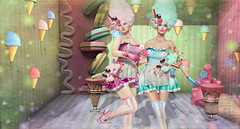Cotton Candy (kynne L.) Tags: irrisistible shop cotton candy swank event mesh dress fair fest summer ice cream sweets fantasy maitreya belleza slink hourglass sl second life secondlife