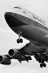 BA0178 JFK-LHR (A380spotter) Tags: approach landing arrival finals shortfinals threshold undercarriage landinggear nosegear belly boeing 747 400 gbygc boacbritishoverseasairwayscorporation goldenspeedbird19661974 britishairways10019192019 centenary retrocolours livery scheme retrojet ba100 baretrojet 2019 internationalconsolidatedairlinesgroupsa iag britishairways baw ba ba0178 jfklhr runway27r 27r london heathrow egll lhr monochrome blackwhite blackandwhite bw