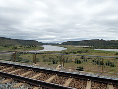 View from Hennie Steyn Bridge (Proteus_XYZ) Tags: southafrica freestate karoo venterstad bethulie orangeriver henniesteynbridge roadandrailwaybridge