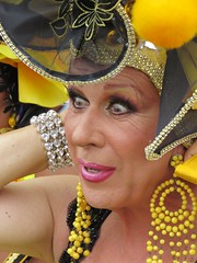 pride sitges 2019 (gerben more) Tags: sitges spain drag dragqueen costume people portrait portret yellow